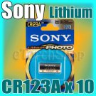 10 x Sony CR123A 3V Lithium Single Use Photo Battery Made in Japan Expire 2021