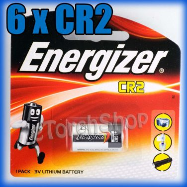 6 x ENERGIZER E2 CR2 Lithium Camera and Photo Single Use Battery