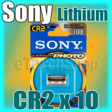 10 x Sony CR2 3V Lithium Single Use Photo Battery Made in Japan Expire 2021