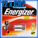 12 x ENERGIZER E2 CR2 Lithium Camera / Photo Single Use Battery