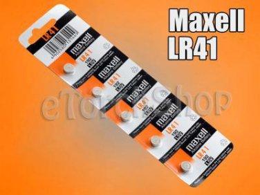 5 Pcs Maxell LR41 Alkaline 1.5 Volt 1.5V Battery 192