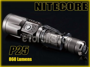 Nitecore P25 Cree XM-L U2 LED 680LM 18650 USB Charging Cable Flashlight