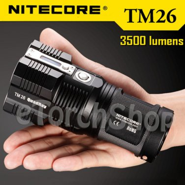 Nitecore TM26 4x Cree U2 LED 3500LM 18650 Tiny Monster OLED Display Flashlight