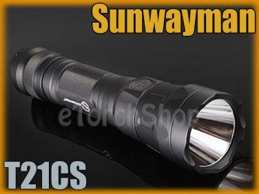 Sunwayman T21CS Cree U3 LED 600LM 16340 18650 Flashlight
