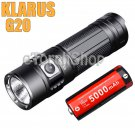KLARUS G20 Cree XHP70 LED 3000LM USB Rechargeable Flashlight With 5000mAh 26650