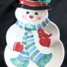 Hallmark Snowman Cookie Snack Treat Hanging Christmas Holiday Plate EUC, Price Includes S&H