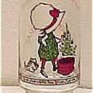Holly Hobbie Christmas Coca Cola Christmas Glass, Price Includes S&H