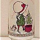 Holly Hobbie Christmas Coca-Cola Christmas Glass, Price Includes S&H