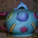 Teapot Takahashi San Francisco Japan Dolphin and Coral