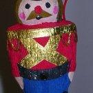 Christmas Ornament Nutcracker Soldier Paper Mache, Price Includes S&H
