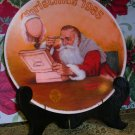 Christmas Plate Norman Rockwell 1985 Santa, Price Includes S&H