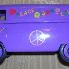 VW Combi 1966 Bus with Flower Powered Symbols, Price Includes S&H
