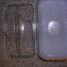 Westinghouse Loaf Pan - White Milk Glass with Clear Lid, Price Includes S&H