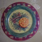The Cellar Plate with Orange Slice & Greenery, Price Includes S&H