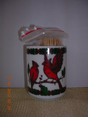 Artmark Cardinal Toothpick Holder, Price Includes S&H