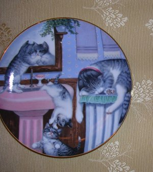 Mischief Makers from Country Kitties 1988 the Hamilton Collection Plates, Price Includes S&H