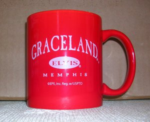 Graceland Elvis Memphis Epic Records Coffee Mug, Price Includes S&H