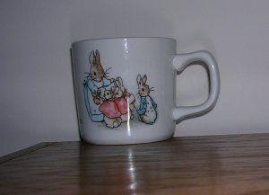 Peter Rabbit Wedgwood Coffee Cup, Price Includes S&H