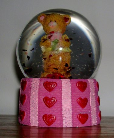 Valentine Bear Snowglobe, Price Includes S&H