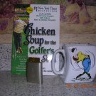 Over-swing coffee mug, Chicken Soup and club cleaner, Price Includes S&H