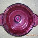 Cranberry Pyrex V1.C Corning 1148 Casserole Dish, Price Includes S&H