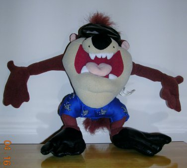 Looney Tunes Scuba Diving Taz Plush Toy, Price Includes S&H