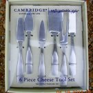 Cambridge Silversmiths 6 Piece Cheese Tool Set, Price Includes S&H