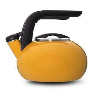 KitchenAid Yellow 1.5 Whistling Teakettle Porcelain Enamel, Price Includes S&H