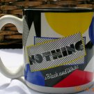"Coffee Mug Potpourri Press 1990 Made in Korea 11 oz ""Nothing is Black and White"" Price includes S&H"