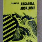 Faulkner's Absalom, Absalom! (Cliffs Notes), Price Includes S&H