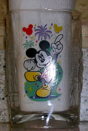 Mickey Mouse McDonald's Walt Disney World 2000 Celebration Glass, Price Includes S&H