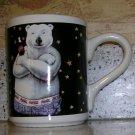 1996 Coca-Cola Polar Bear Mug Stars Coffee/Tea Mug by Gibson, Price Includes S&H