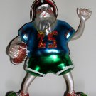 Football Playing Santa Ornament, Price Includes S&H