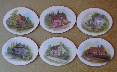 Cottage Coasters--Set of 6, Price Includes S&H