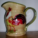 Ceramic Painted Rooster Pitcher, Price Includes S&H
