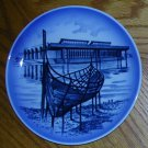 Royal Copenhagen Viking Boat Plate, Price Includes S&H