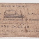 Henry Baldwin One Dollar Steamboat Banknote on Planters Bank of Tennessee, Price Includes S&H