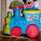Vintage Disney Mickey Mouse Popping Train Pull Toy, Price Includes S&H