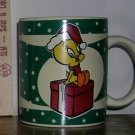 1994 Warner Bros. Studio Store Tweety Bird Holiday Santa Coffee Mug, Price Includes S&H