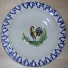 Ceramiche Virginia Italy Rustic Rooster Dinner Plate, Price Includes S&H