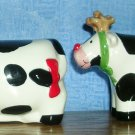 Coco Dowley Cows Dressed as Reindeer Salt and Pepper Shakers, Price Includes S&H