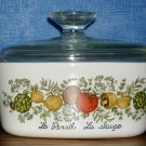 Corning Spice of Life  One Quart  Casserole Dish With Lid, Price Includes S&H