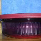 Corning Ware Vision Cranberry Glass 1 Qt/1L Casserole with Plastic Cover, Price Includes S&H