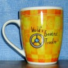 History & Heraldry Fine Porcelain World's Greatest Trucker Coffee Mug, Price Includes S&H