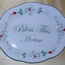 "Pfaltzgraff Winterberry ""Bless This House"" Oval Platter, Price Includes S&H"
