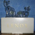 Lenox Lead Crystal Cats Salt and Pepper Shakers, Price Includes S&H