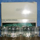 Vintage 1988 Grainware Clear Acrylic Napkin Rings Set of 4 Model Number GW250, Price Includes S&H