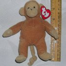 McDonald's 1993 TY Teenie Beanie Bongo The Monkey Plush Toy Animal, Price Includes S&H