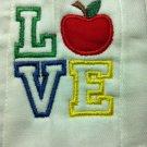 LOVE Apple - Teacher Burp Cloth