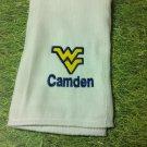 West Virginia University Burp Cloth